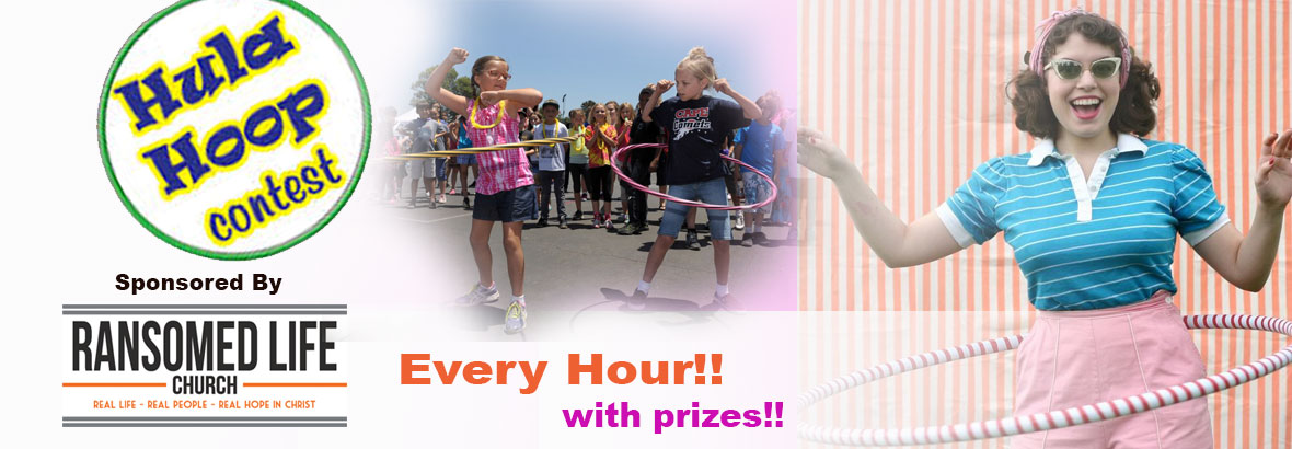 Hula Hoop Contests Every Hour With Prizes